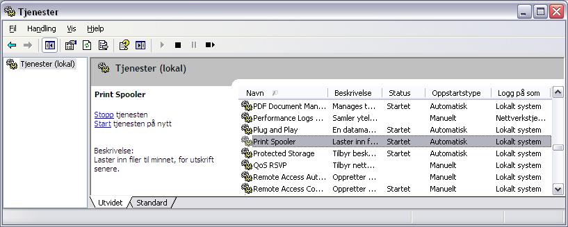 tving avslutning program windows